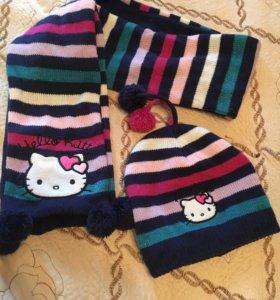 Шапочка и шарф  Hello kitty 🐱