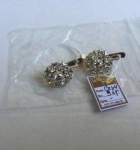 серьги с бриллиантовым обручем с ziplolc