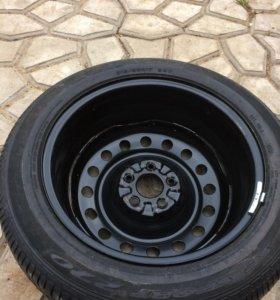 Полноразмерное штатное запасное колесо на НИССАН-Т