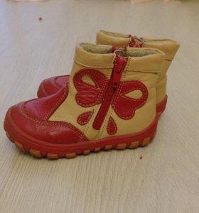 ботинки осень-весна на девочку 22 р