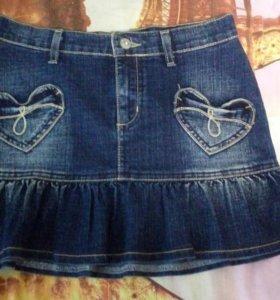 Юбка джинсовая на 42р.