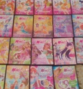 DVD диски (мультфильмы WINX)