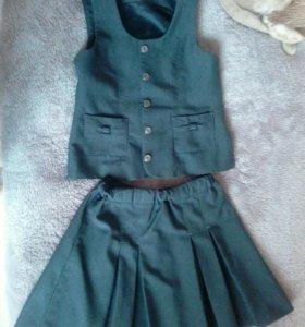 Школьная форма (юбка и жилет)