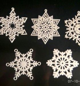 Декоративные Снежинки-Звезды
