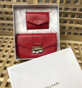 Новый комплект (сумка+кошелёк) Bulgari