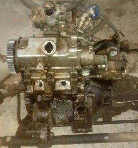 Двигатель коробка. С навесным