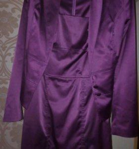 Костюм: платье+пиджак