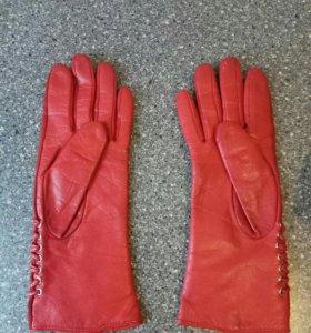 Перчатки кожаные 6,5