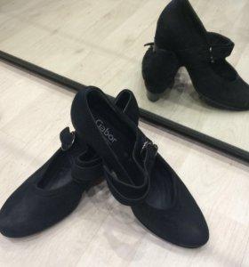 Туфли натуральная замша р.39-40