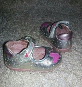 Туфельки для девочки р19