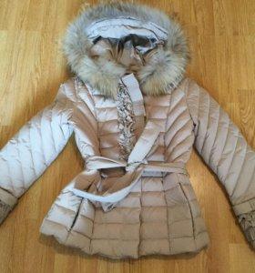 Куртка зимняя с мехом 46