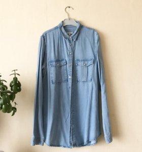 Джинсовая рубашка river island 44