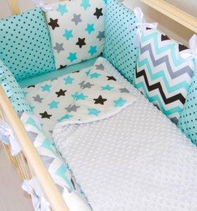 Бортики в кроватки