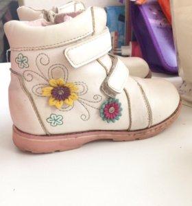 Кожаные ботинки 29 размер