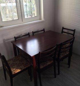 Обеденная группа стол и 6 стульев
