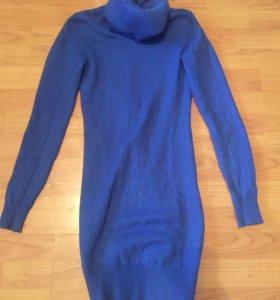 Синее платье свитер New Yorker
