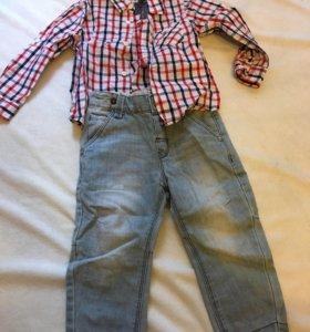 Джинсы и рубашка 92 размер
