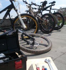 Запчасти для велосипеда, помощь в тех.обслуживании