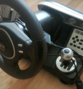 Игровой руль для пк с педалями