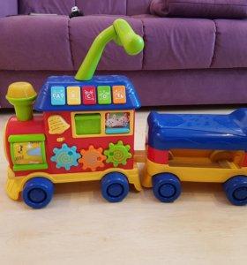 Детский паровозик каталка