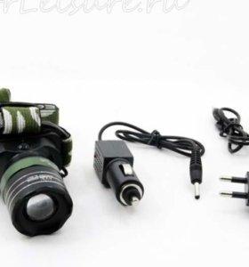 Налобный фонарь аккумуляторный mont 6801-1
