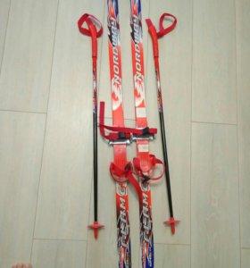 Лыжи,палки детские