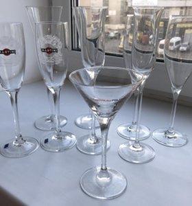 Бокалы коктейльные и для шампанского