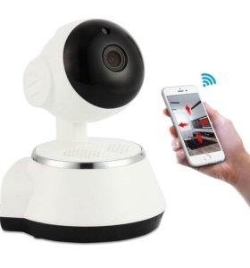 Поворотная wi-fi видеокамера/видеоняня (новая)