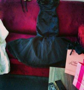 Платье в пол 42 силуэт русалка