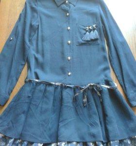 Штапельные платья для девочек 6 - 12 лет по 2000 р