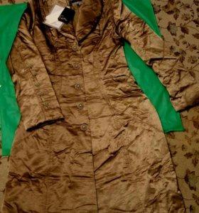 Куртка тёплая длинная