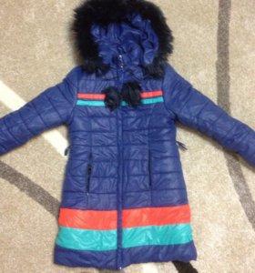 Куртка зимняя на девочку 9-11 лет