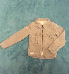 Вельветовая курточка на девочку 6-7 лет