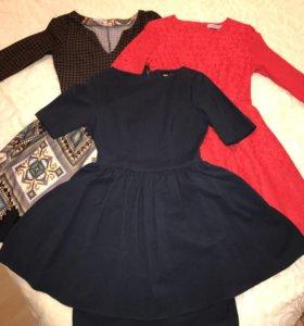 Платье женское темно-синее