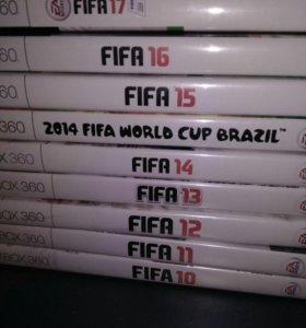 Части Fifa 10-17 для Xbox 360