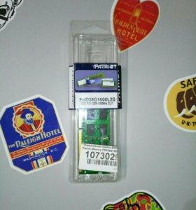 Оперативная память(Для ноутбука)Patriot 8Гб DDR3L
