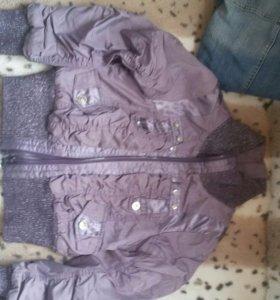 Куртка джинсовая,ветровка на флисе