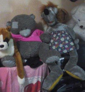 Волк, собака и два медведя