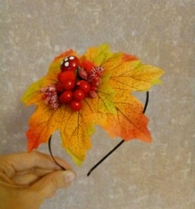 Осенний веночек, ободок