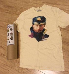 футболка Путин в тубе новая