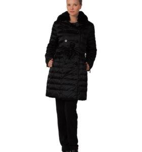 Пальто женское на пуху L, XL, Италия черный