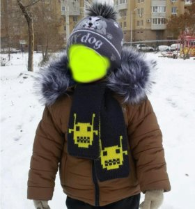 Зимняя куртка+шапка