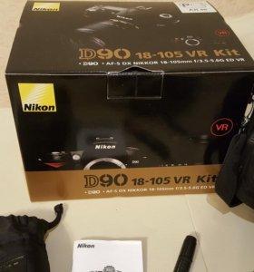 зеркальная фотокамера Nikon D90 kit