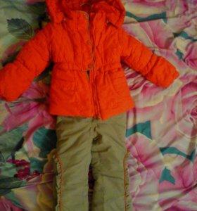 Комплект куртка с камбенизоном.