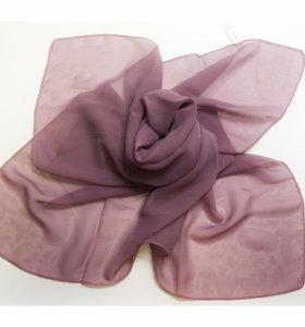 Новый платок 100% шифон сиреневый