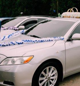 Украшения на машину, для свадьбы