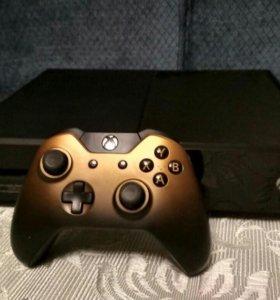 Xbox one + бронзовый геймпад + 9 игр