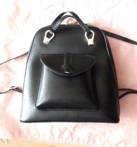 Рюкзак сумка кожаная