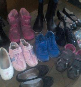 Обувь на девочку 8-10 лет