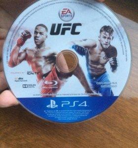 Диск на PS4 UFC